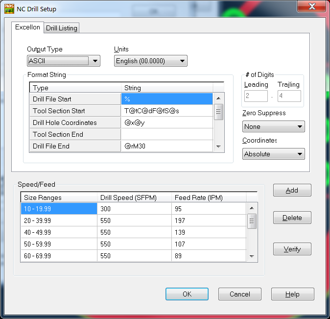 Generate NC Drill file from PADS Software | PCBCart