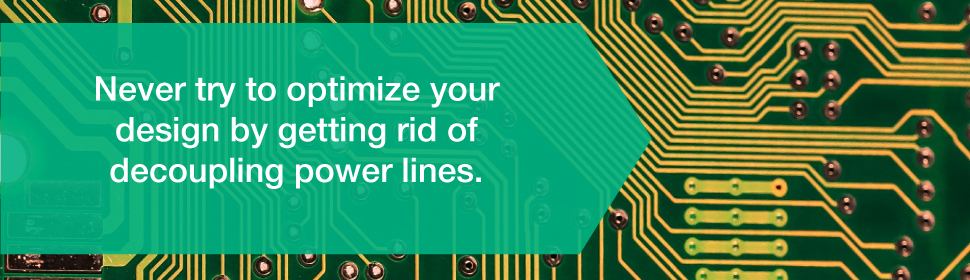 Never Optimize PCB design by Getting Rid of Decoupling Power Lines | PCBCart