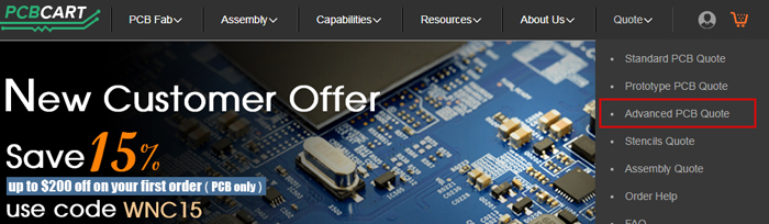 How to Quote and Order Advanced PCB Manufacturing Services   PCBCart